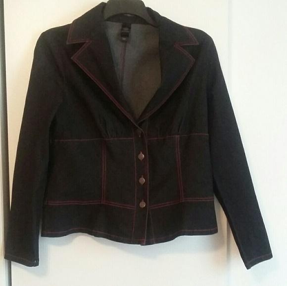 c45af6dd04425 Bisou Bisou Jackets & Blazers - NWOT Bisou Bisou Size 18 black denim jacket